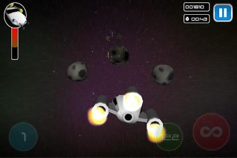 游戏,你需要控制飞船在一个很难生存的宇宙中来射击飞来的陨石从而