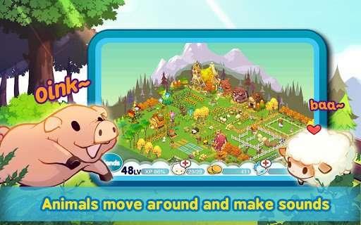 《迷你农场 Tiny Farm》是一款模拟经营游戏,对你的动物们来说,什么才是最重要的呢? 那就是LOVE!把你的爱情与关怀分给你的动物们吧,在你的关怀下,动物们会逐渐成长,还能进行交配给你生出可爱的小动物哦! 【游戏特点】 - 专家阿Ben来传授你超简单的农场管理方法。 - 独特的动物交配系统,特Q利用爱心点可以让动物们感觉到幸福,然后进行交配繁衍后代。 - 生动真实的动物模型,它们不但能在你的农场内自由行走,还能发出叫声哦。 - 黑色的羊,蓝色的牛,绿色的鸡~各种稀有颜色的动物。 - 熟练度系统,让你