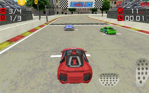 矢量图 汽车与跑道