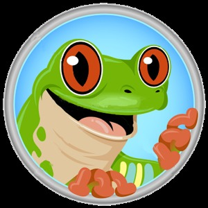 青蛙卡通头像矢量图