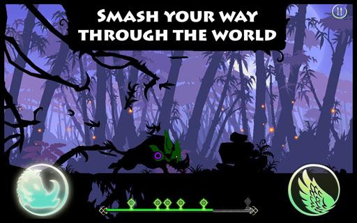 是一款由chillingo出品的横版剪影风格跑酷游戏,游戏里你将扮演我们的