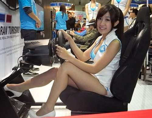 2014chinajoy sony展台美女showgirl激情热舞