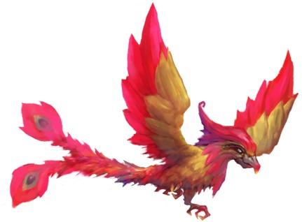 在我们妖刀物语中呢,凤凰可不是一个正派的角色哦,看着它的形象小编就