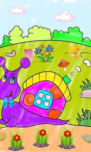 儿童画画填色涂鸦动物小伙伴电脑版
