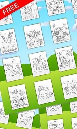 儿童画画填色涂鸦动物小伙伴