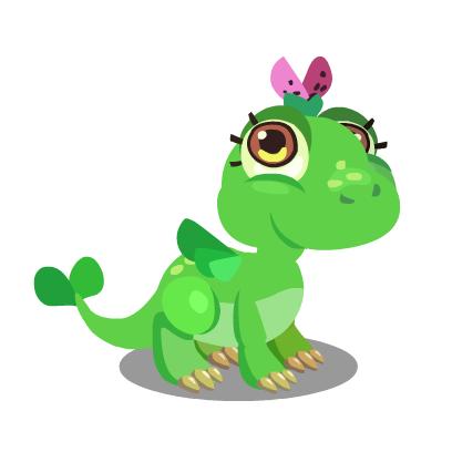 龙:传说中从生命之树诞生出来的翠绿色龙,温良淳朴的秉性是人类的朋友