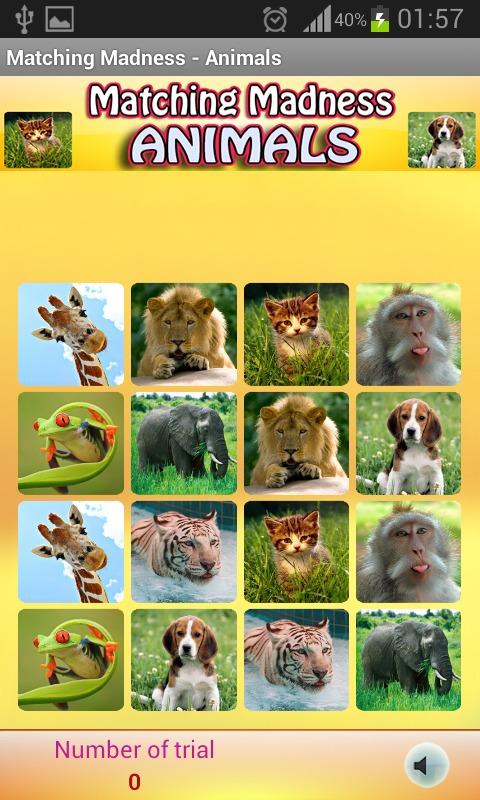 疯狂的记忆 - 动物游戏介绍