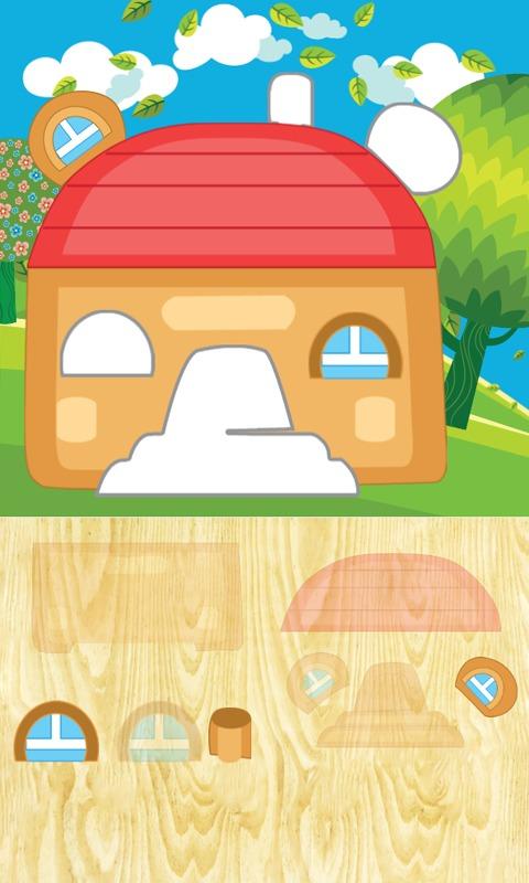 动画拼图房子动物游戏介绍