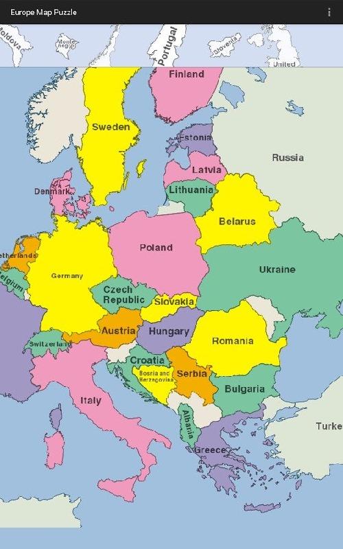 欧洲地图拼图_欧洲地图拼图攻略
