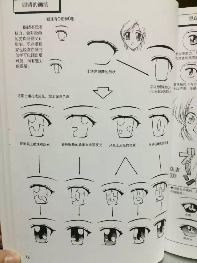 次元大眼睛的画法