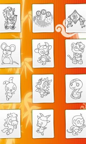 儿童画画填色涂鸦:春节游戏介绍