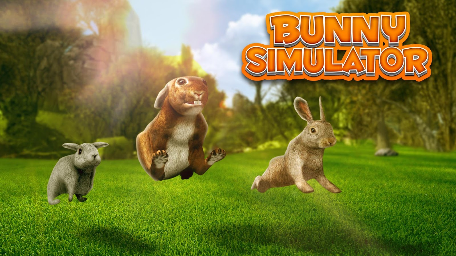 超真实的3d兔子模拟,你指挥可爱的兔子在美丽的地方探索奔跑!