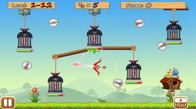 《让小鸟飞》是一款非常好玩有趣的益智游戏