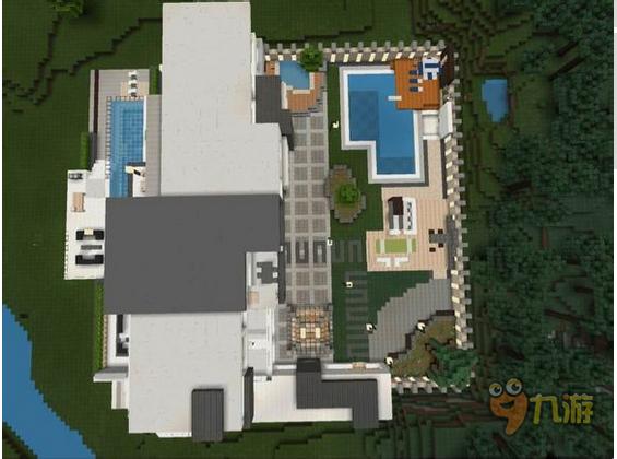 我的世界图片教程之复式别墅