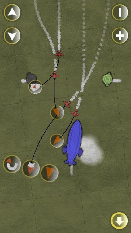 这是一款风格独特的飞机游戏,画面类似于flash的