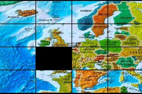 世界地图拼图游戏截图