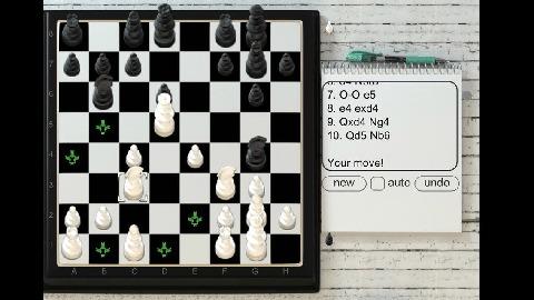 不用担心,3d国际象棋会建议可能的棋子,皇后,主教,马,塔和国王的举动图片