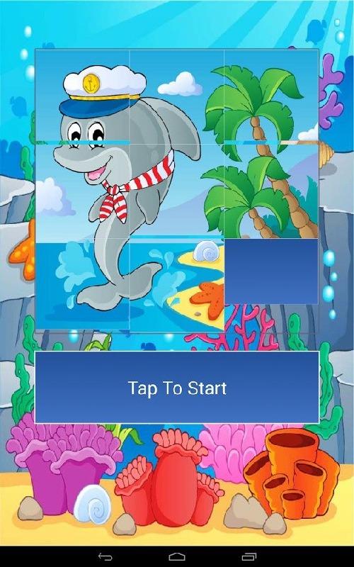 海洋动物卡通拼图是您理想的选择