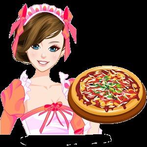 可爱的女孩子厨师