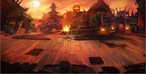 心旷神怡的游戏场景截图,勃然壮阔的冰封王座,妖异无比的魔兽暴风要塞