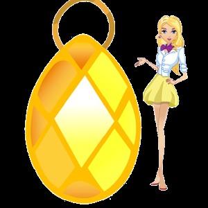 纺锤形钻石矢量图