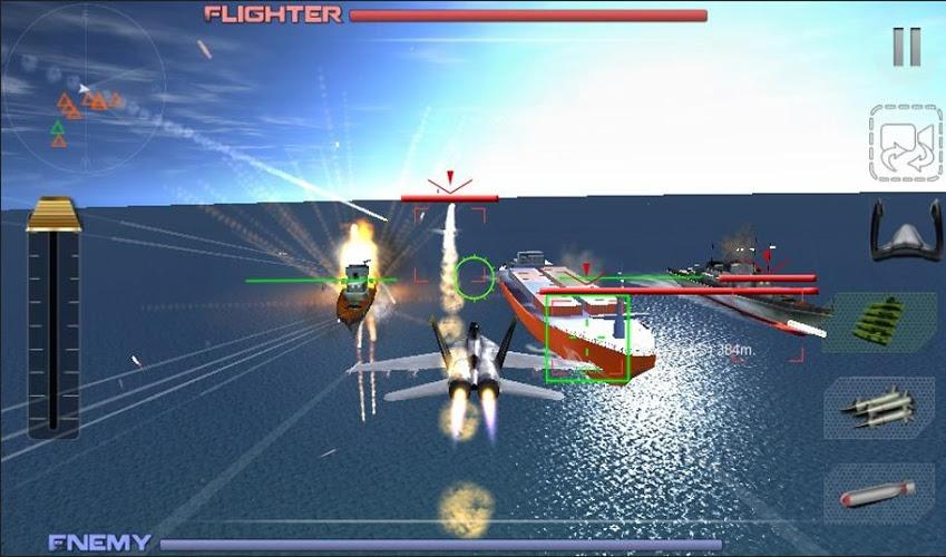 现实的战斗飞行模拟器喷气飞机控制并开始空袭会话来消除与阿森纳的