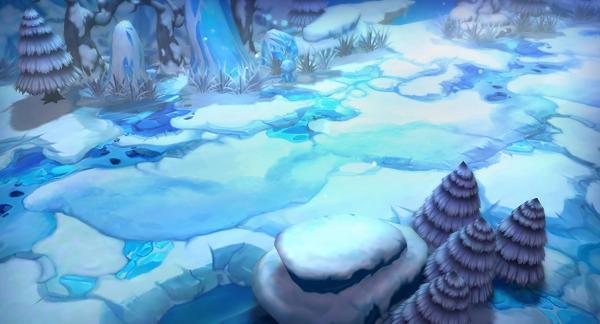 手绘雪地游戏场景游戏