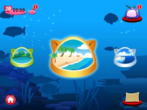 可爱的小猫,奇趣的海洋世界,梦幻般的鱼类和动听的旋律一定能满足您