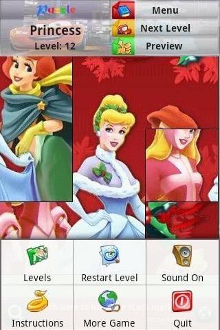 卡通公主拼图