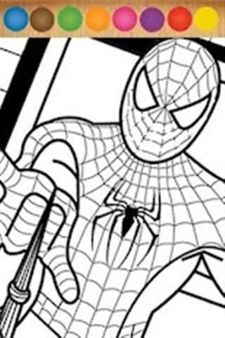 蜘蛛侠颜色填充