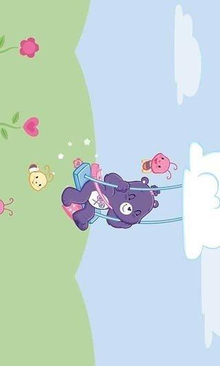 春天到了,小熊在田野里要采集