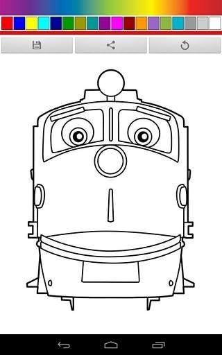 火车手绘画图片