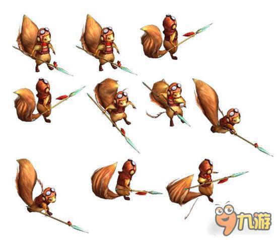 小松鼠:可爱的小松鼠穿上装备拿起了长矛,非常惹人喜爱,别看它这么呆