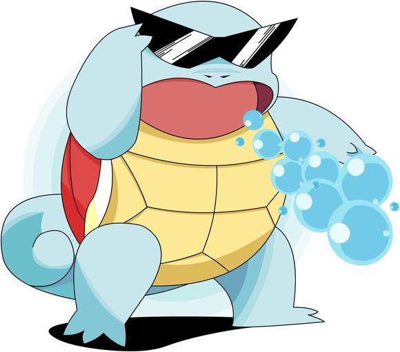 不良少年杰尼龟 口袋妖怪联盟 最酷墨镜精灵