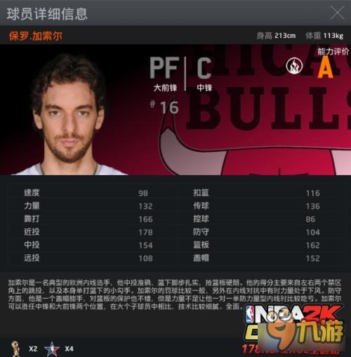 《NBA2kOL》王朝模式十大大前锋之一保罗.加