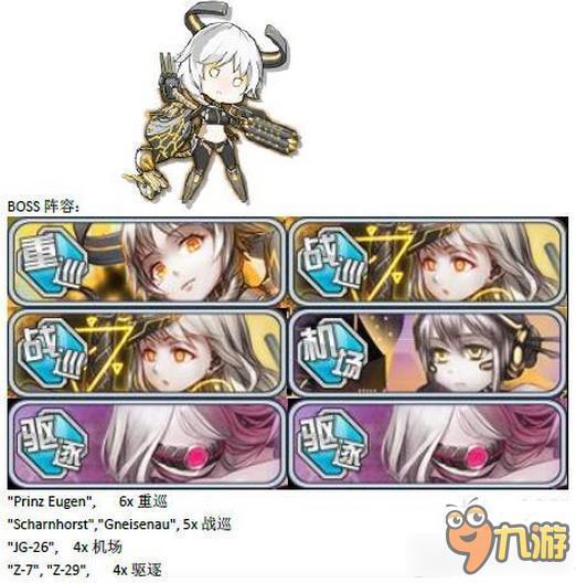 《战舰少女r》女武神行动e4攻略