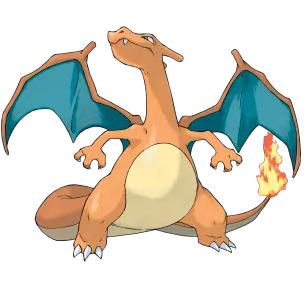 它是很像龙的神奇宝贝.与它进化前一样,它有长长的末端有火焰的尾巴.
