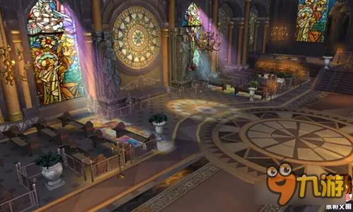 城堡内部场景卡通