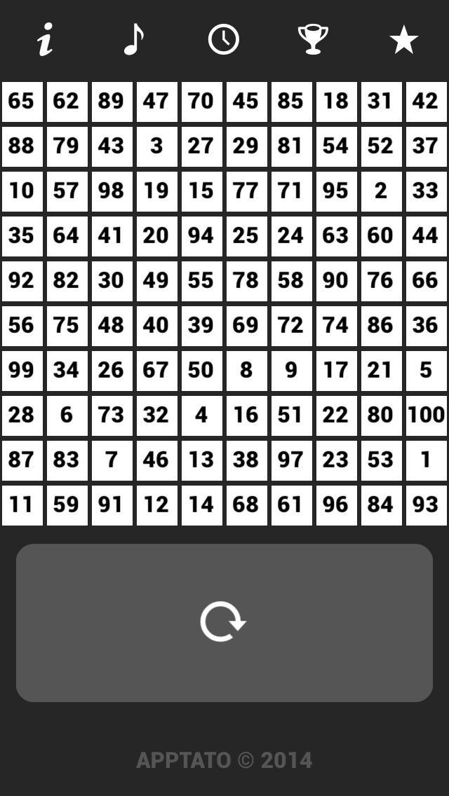 1到100个 数字游戏