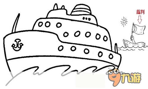 帆船运动简笔画