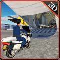 警察自行车飞机运输