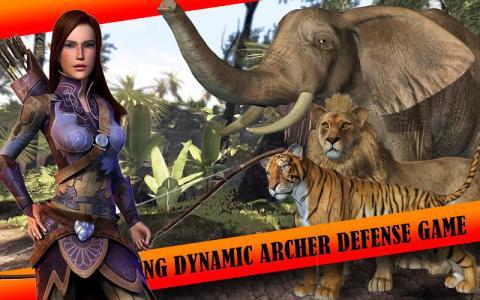 射箭女孩动物狩猎3d游戏截图