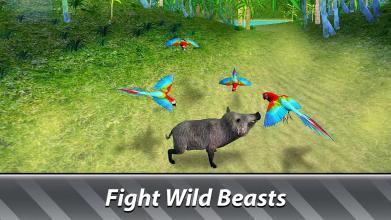 丛林鹦鹉模拟器 - 尝试野鸟生存!