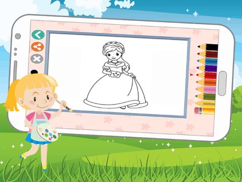 一年级公主简单画画图片