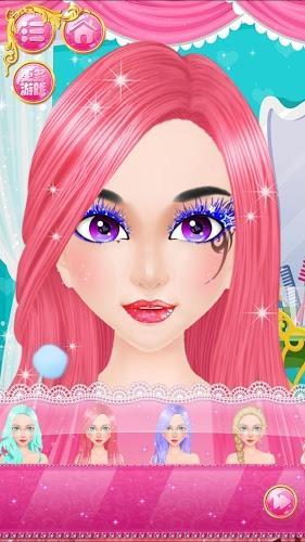 公主的独特的面部绘画,各种魔法和童话发型,迷人的衣服设计  3.