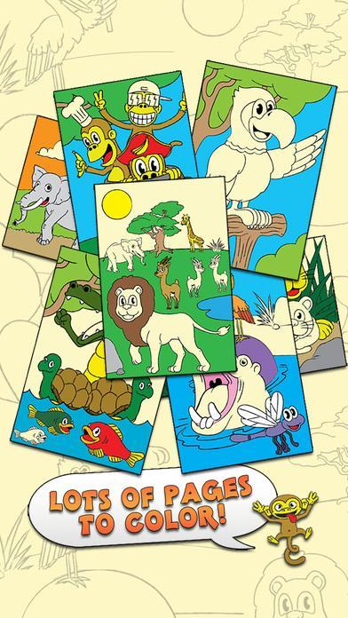 着色动物园触摸彩色活动彩图