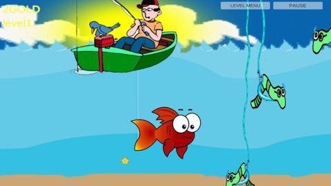 红鱼,儿歌,在湖卷曲,动物的叫声游泳