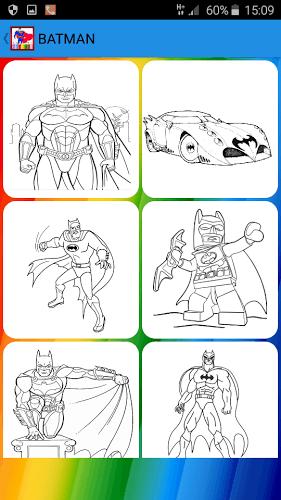 儿童填色画 超人