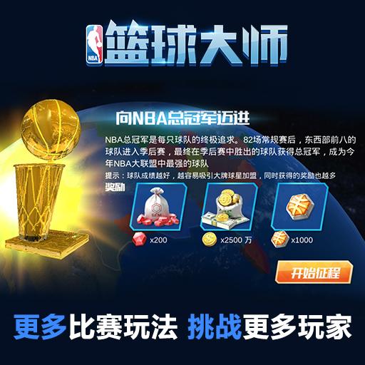 《NBA篮球大师》火爆开测助玩家再塑一代传奇