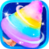Carnival Fair Food - Sweet Rainbow Cotton Candy